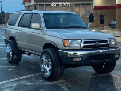 "1999 Toyota 4Runner - 22x12 -44mm - Fuel Cleaver - Stock Suspension - 33"" x 11.5"""