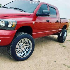 """2007 Dodge Ram 2500 - 22x12 -44mm - TIS 544c - Suspension Lift 3"""" - 35"""" x 12.5"""""""