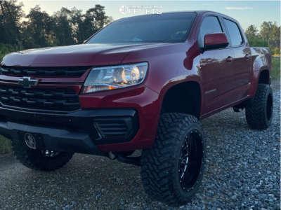 "2021 Chevrolet Colorado - 20x12 -44mm - American Offroad A105 - Suspension Lift 6"" - 33"" x 12.5"""