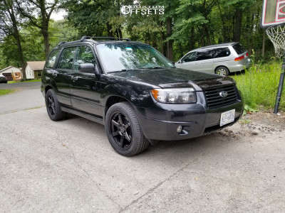 2008 Subaru Forester - 18x8 35mm - NS Ns1507 - Stock Suspension - 255/45R18