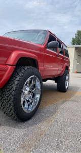 """1998 Jeep Cherokee - 20x10 -24mm - Karma Offroad K27 - Suspension Lift 3"""" - 33"""" x 11.5"""""""