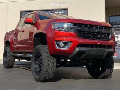 "2015 Chevrolet Colorado - 20x9 -12mm - KMC Rockstar 3 - Suspension Lift 6"" - 33"" x 12.5"""