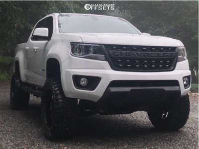"2017 Chevrolet Colorado - 20x9 0mm - Mayhem Warrior - Suspension Lift 5.5"" - 33"" x 12.5"""