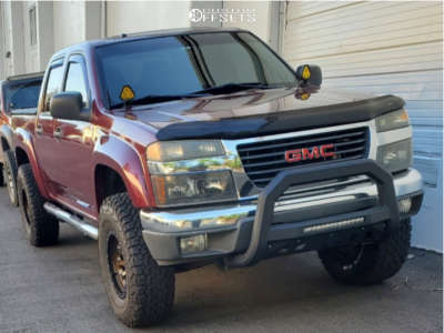 """2007 GMC Canyon - 16x8 -12mm - SCS Ray 10 - Suspension Lift 3"""" - 33"""" x 10.5"""""""