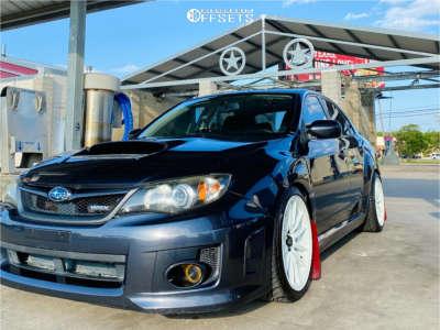 2011 Subaru Impreza - 18x9.5 35mm - Cosmis Racing R1 - Coilovers - 245/45R18