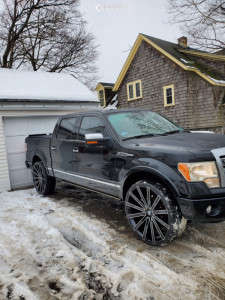 2010 Ford F-150 - 28x5.5 0mm - Velocity Vw28 - Leveling Kit - 195/25R28
