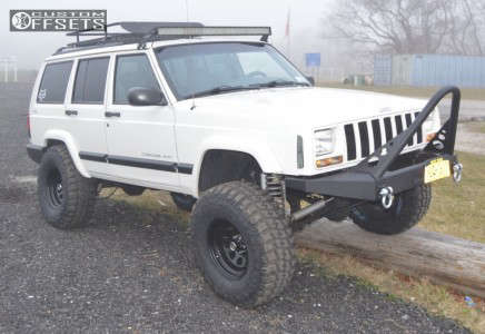 "2000 Jeep Cherokee - 15x10 -39mm - Vision D Window - Suspension Lift 4.5"" - 33"" x 12.5"""