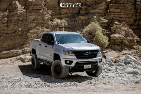 """2019 Chevrolet Colorado - 18x9 1mm - Fuel Rebel - Suspension Lift 5.5"""" - 33"""" x 11.5"""""""