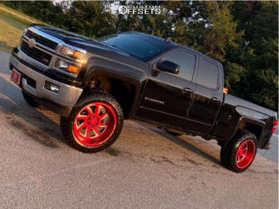"2015 Chevrolet Silverado 1500 - 22x12 44mm - Monster Offroad M07 - Leveling Kit - 35"" x 12.5"""