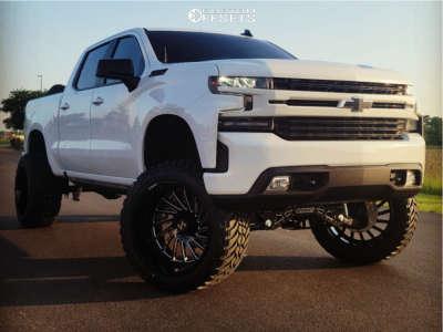 """2021 Chevrolet Silverado 1500 - 24x14 -81mm - ARKON OFF-ROAD Caesar - Suspension Lift 9"""" - 37"""" x 13.5"""""""