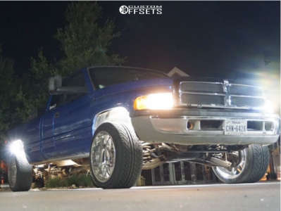 "1998 Dodge Ram 2500 - 22x12 -51mm - Cali Offroad Gemini - Suspension Lift 3"" - 305/40R22"