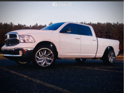 """2019 Ram 1500 Classic - 22x12 -51mm - Vision Spider - Level 2"""" Drop Rear - 305/40R22"""