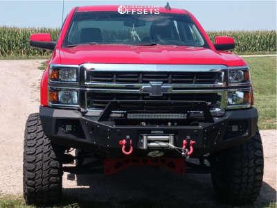 "2015 Chevrolet Silverado 1500 - 20x12 -57mm - Vision Spider - Suspension Lift 9"" - 37"" x 13.5"""