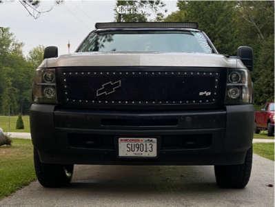 2009 Chevrolet Silverado 1500 - 17x8.5 -6mm - DX4 Rebel - Leveling Kit - 265/65R17