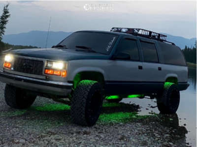 "1995 GMC K1500 Suburban - 20x12 -44mm - Vision Rocker - Suspension Lift 3"" - 33"" x 12.5"""
