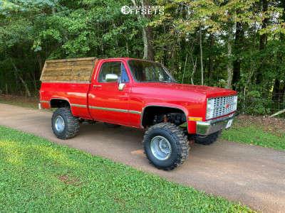 "1984 Chevrolet K10 - 15x12 -44mm - Steel Rally - Suspension Lift 4"" - 33"" x 14.5"""