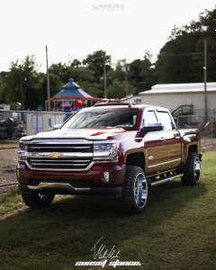 "2016 Chevrolet Silverado 1500 - 22x12 -55mm - Vision Rocker 412 - Suspension Lift 4"" - 33"" x 12.5"""