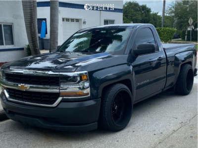2018 Chevrolet Silverado 1500 - 22x12 -51mm - Vision Split - Lowered 4F / 6R - 285/35R22