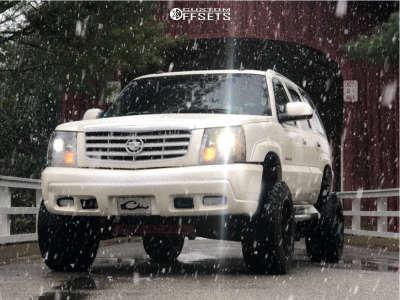 "2003 Cadillac Escalade - 20x12 -44mm - TIS 544mb - Suspension Lift 6"" - 33"" x 12.5"""