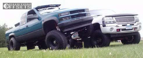 "1997 Chevrolet K2500 - 16.5x12 -76mm - Bart Super Trucker - Suspension Lift 8"" - 37"" x 12.5"""