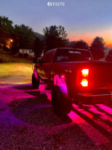 """2009 Chevrolet Silverado 1500 - 22x12 -41mm - Fuel Maverick D538 - Suspension Lift 8.5"""" - 35"""" x 12.5"""""""