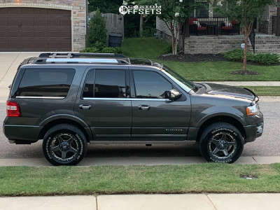 2015 Ford Expedition - 20x9 -12mm - Grid Gd04 - Leveling Kit - 285/60R20