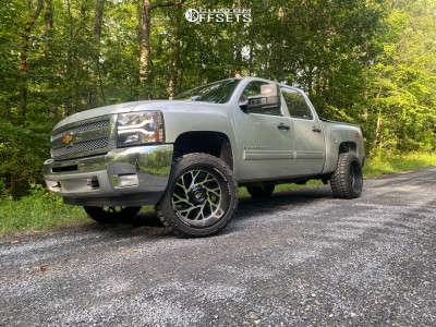 "2012 Chevrolet Silverado 1500 - 20x12 -44mm - American Truxx Destiny - Leveling Kit - 33"" x 12.5"""