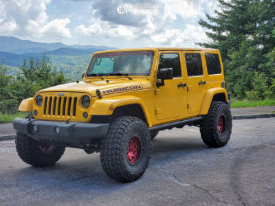 "2015 Jeep Wrangler - 17x9.5 38mm - Dirty Life Roadkill - Suspension Lift 2.5"" - 37"" x 13.5"""