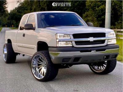 "2003 Chevrolet Silverado 1500 - 24x14 -73mm - Tuff T2a - Suspension Lift 6"" - 33"" x 13.5"""