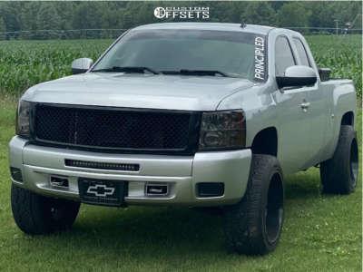 2013 Chevrolet Silverado 1500 - 22x12 -51mm - ARKON OFF-ROAD Caesar - Leveling Kit - 305/45R22