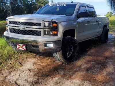 "2014 Chevrolet Silverado 1500 - 22x12 -57mm - Vision Rocker - Leveling Kit - 33"" x 12.5"""