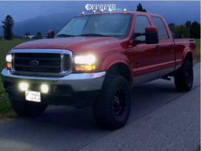 """2002 Ford F-250 Super Duty - 17x9 -10mm - Fuel Hostage - Leveling Kit - 35"""" x 12.5"""""""