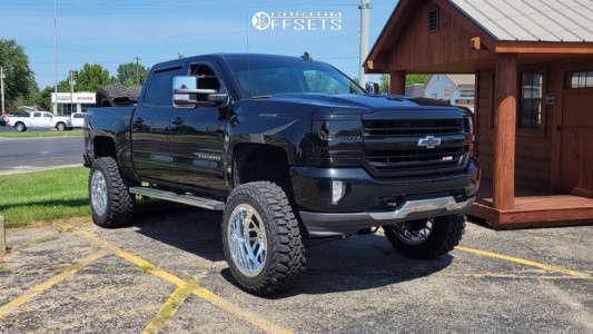 "2017 Chevrolet Silverado 1500 - 22x12 -51mm - Extreme Force Xf003 - Suspension Lift 9"" - 37"" x 13.5"""