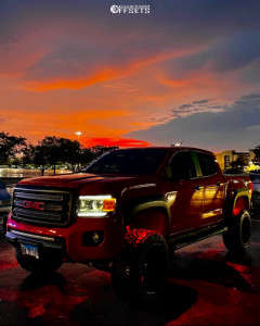 """2016 GMC Canyon - 20x12 -44mm - American Offroad A106 - Suspension Lift 6"""" - 33"""" x 12.5"""""""