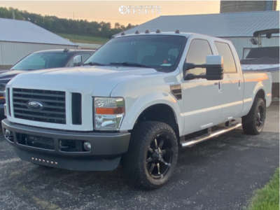 """2009 Ford F-250 - 20x9 1mm - Fuel Coupler D556 - Stock Suspension - 33"""" x 12.5"""""""