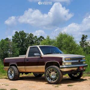 "1990 Chevrolet K1500 - 22x12 44mm - Scorpion Sc29 - Stock Suspension - 33"" x 12.5"""