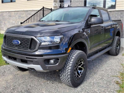 """2021 Ford Ranger - 18x9 0mm - RTX Offroad Zion - Suspension Lift 3"""" - 285/60R18"""