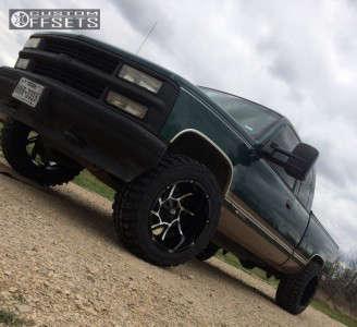 "1997 Chevrolet K1500 - 20x12 -51mm - Vision Prowler - Stock Suspension - 33"" x 12.5"""