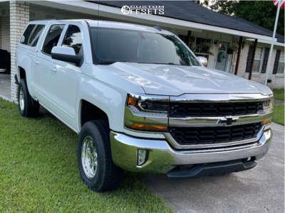 "2017 Chevrolet Silverado 1500 - 17x7.5 -6mm - Pro Comp 69 - Suspension Lift 2.5"" - 265/70R17"
