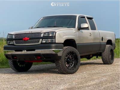 """2004 Chevrolet Silverado 2500 HD - 20x12 -44mm - Falcon Off-Road F1 - Suspension Lift 3"""" - 33"""" x 12.5"""""""