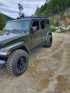 2021 Jeep Wrangler - 17x9 -12mm - Black Rock Type 8 997b - Stock Suspension - 255/75R17