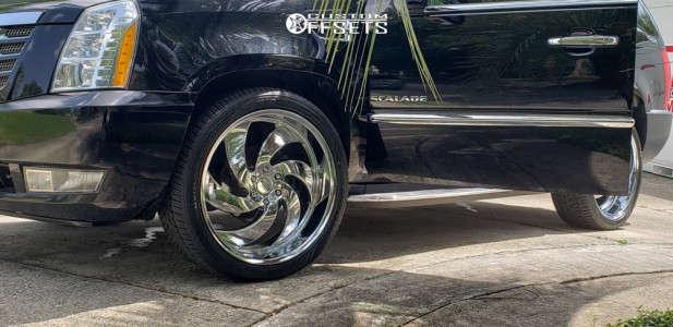 "2014 Cadillac Escalade - 24x10 24mm - Strada Retro 6 - Stock Suspension - 32"" x 12.5"""