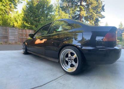 1997 Honda Civic - 16x9 15mm - JNC Jnc010 - Coilovers - 205/45R16