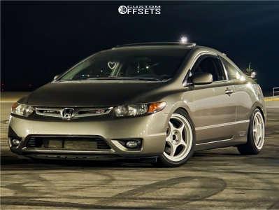 2008 Honda Civic - 17x8 38mm - Enkei Rp01 - Coilovers - 225/45R17