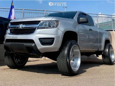 "2015 Chevrolet Colorado - 22x12 -44mm - Xf Offroad Xfx-307 - Suspension Lift 6"" - 285/45R22"