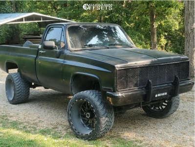 "1985 Chevrolet K10 - 22x14 -76mm - TIS 544 - Suspension Lift 4"" - 33"" x 14.5"""
