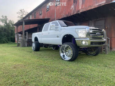 """2011 Ford F-250 - 26x16 -101mm - Specialty Forged Sf037 - Suspension Lift 10"""" - 35"""" x 15.5"""""""