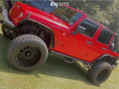 "2014 Jeep Wrangler JK - 22x12 -51mm - Vision Rocker - Suspension Lift 4"" - 37"" x 12.5"""