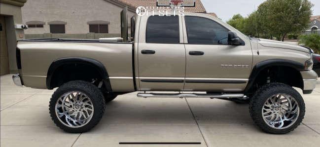 """2004 Dodge Ram 2500 - 24x14 -76mm - Tis 544c - Suspension Lift 8"""" - 37"""" x 13.5"""""""