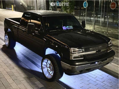 "2005 Chevrolet Silverado 1500 - 22x12 -44mm - XF Forged Xfx-304 - Leveling Kit - 33"" x 12.5"""